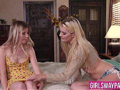 Bombshell Kenna James facesitting naughty teen Vienna Rose