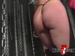 Lesbo Missy Warner spanked before feasting on mistress feet