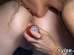 Lesbian milfs love public sex and anal strapon