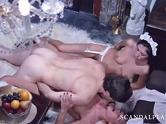 Karine Gambier & Cathy Stewart Threesome Sex - ScandalPlanet