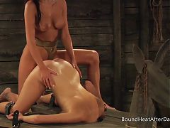 Lesbian Mistress With Big Natural Tits Punishing Slave