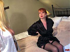 Busty British redhead Red gets a sensual massage