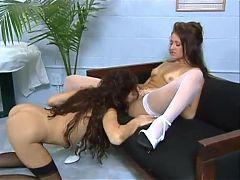 Nakita Kash short lesbian scene with Kimberly Jade