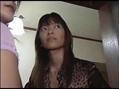 Japanese Lesbians Lust for Tongue Kissing and Spitting