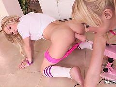 Chloe teaching Kenzie how to make her asshole gape